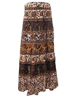 Wrap Skirt- Elephants Tiger Printed Wrap Around Long Skirts Boho Dress Mogul Interior http://www.amazon.com/dp/B00RL52Y1A/ref=cm_sw_r_pi_dp_SwOOub0ZE7QBG