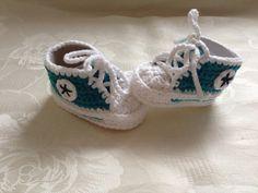 Baby Chucks Sneakers Gehäkelt 0 3 Monate Von Mit Nadel Charme