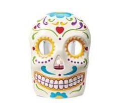 Skeleton masquerade votive holder