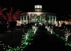 The entire garden is transformed into a magical Winter Wonderland for holidays at the Garden.