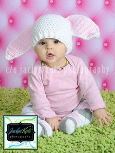 Bunny Hat by whileyousleep on Etsy, $20.00