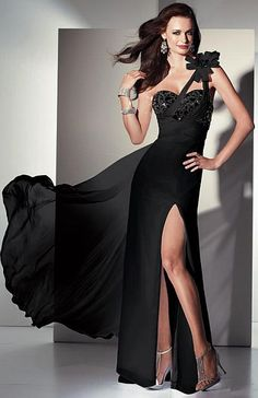 Alyce Paris Black Label Leopard Print Chiffon Evening Dress 5441 image