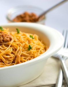 ANGEL HAIR WITH RED PESTO SAUCE - Erren's Kitchen - This quick and easy recipe for Angel Hair with Red Pesto Sauce is great for a mid-week dinner that could be whipped up in just fifteen minutes.