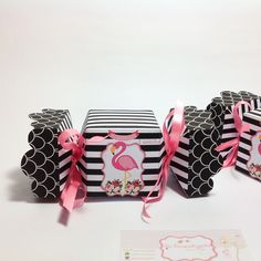 Caixa bala Flamingo Party Props, Favor Bags, Luau, Origami, Giveaway, Favors, Batman, Scrapbook, Birthday Party Ideas
