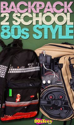 744a2c6069 Find these awesome retro Super Mario and Ghostbusters backpacks exclusively  at 80sTees.com!