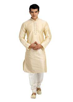 Cream Kurta Pajama for Men rental