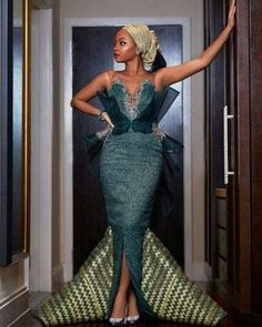 30 Latest Nigerian Dresses for Nigerian Brides 2019 Nigerian Dress Styles, Nigerian Wedding Dress, Nigerian Bride, Minimalist Gown, Minimalist Dresses, African Attire, African Fashion Dresses, African Clothes, Kempinski Hotel