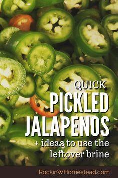 Jalapeno Recipes, Jalapeno Relish, Canned Jalapenos, Pickling Jalapenos, Konservierung Von Lebensmitteln, Pickled Garlic, Burger Toppings, Canning Recipes, Pickling