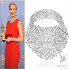 If winning the Golden Globes won't make you eat your heart with envy of Jennifer Lawrence then her magnificent necklace by @chopard should do it. Top it all of with a drool-worthy custom made red gown by @dior she is really the kind of woman that makes other women red with envy! #purplebyanki #diamonds #luxury #loveit #jewelry #jewelrygram #jewelrydesigner #love #jewelrydesign #finejewelry #luxurylifestyle #instagood #follow #instadaily #lovely #me #beautiful #loveofmylife #dubai…