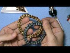Tutorial Video - How to Rotate Herringbone Technique (Spiral Herringbone Stitch) . Beaded Jewelry Designs, Diy Jewelry, Jewelry Bracelets, Jewelry Making, Handmade Beads, Handmade Jewelry, Bead Earrings, Beaded Necklace, Beaded Bracelets Tutorial