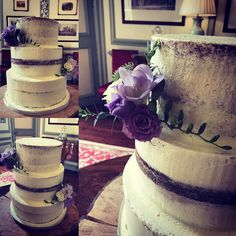 Today's cakes all set up! #weddingcakessomerset #weddingcakesdorset #wedding #brymptonhouse #somerset #cake  #seminakedcake ##buttercream  #buttercreamcake #buttercreamcakes