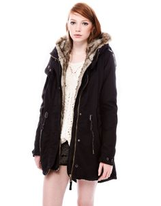 :PARKA WITH FUR HOOD/ want it