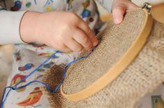 Needlework with little ones