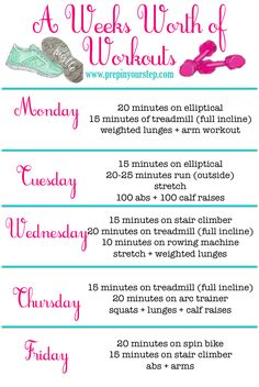 Updated Weekly Workout Routine