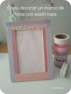 Tutorial: cómo decorar un marco de fotos con washi tape