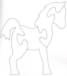 Horse / Pony scroll saw puzzle quiet book Scroll Saw Patterns Free, Scroll Pattern, Wood Patterns, Free Pattern, Woodworking Jigsaw, Woodworking Crafts, Felt Crafts, Wood Crafts, Quilt Book
