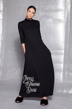 c6692cf04c2 Black Maxi Dress -The amazing new FALL WINTER COLLECTION is here !This maxi  dress