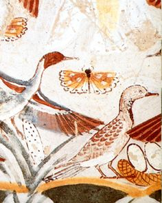 Butterfly in ancient Egyptian painting, tomb of Nakht