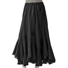 ELLE Embroidered Pieced Maxi Skirt