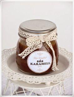 Címkecenter: Sós karamell szósz ajándékba