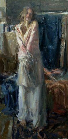 """Silk Shawl"" - Originals - All Artwork - Quang Ho   Fine Art World"