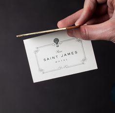 Saint James Paris Hotel // Gold Edged Business Cards