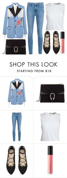 """street style"" by sisaez ❤ liked on Polyvore featuring Gucci, M.i.h Jeans, Canvas by Lands' End and Bare Escentuals"