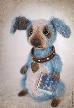 Рэй - голубой,васильковый,пёс,пёсик,собака,собачка,собака тедди,бело-голубой