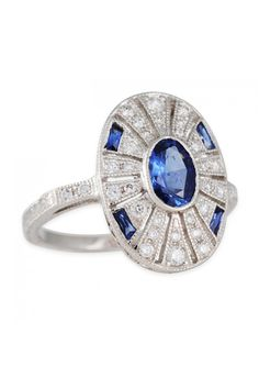 Alex Kogan Sapphire and Dimaond Encrusted Engagement Rings, $2,990; clay-pot.com