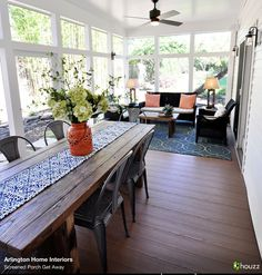 Screened Porch Design Ideas, Pictures, Remodel and Decor 3 Season Room, Three Season Room, Three Season Porch, Enclosed Porches, Decks And Porches, Screened Porches, Front Porch, Sunroom Dining, Sunroom Furniture
