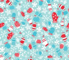 Christmas Mittens fabric at spoonflower.com