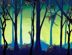 Sunrise Forest Paint Nite