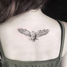 Owl tattoo by Otavio Borges