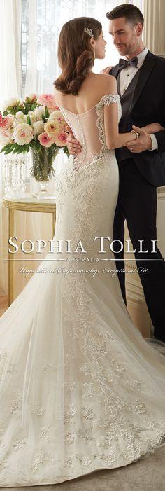 The Sophia Tolli Spring 2016 Wedding Dress Collection - Style No. Y11634 - Loraina #laceweddingdress