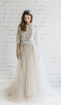 Brautkleid, Hochzeitskleid, Spitze, mit langen Ärmeln, Hochzeit #hochzeitskleidmitaermeln