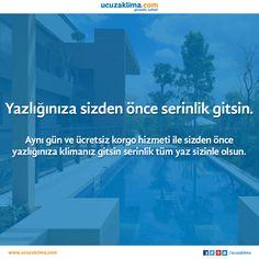 Yazlığınıza sizden önce serinlik gitsin!! #ucuzaklima www.ucuzaklima.com #tatil #yazlık #serinlik #yaz #klima