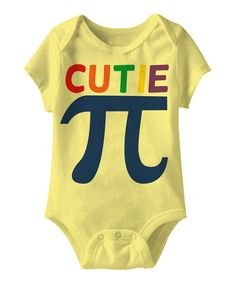 Take a look at this American Classics Banana Yellow Cutie Pie Bodysuit - Infant on zulily today!