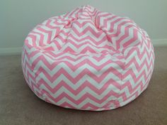 Children's Bean Bag Zig Zag Chevron Hot Pink by IslandHomeEmporium Hot Pink Furniture, Bean Bag Furniture, Small Bean Bags, Kids Bean Bags, Bean Bag Cover Only, Bean Bag Covers, Checked Cushions, Pink Cushions, Pink Bean Bag