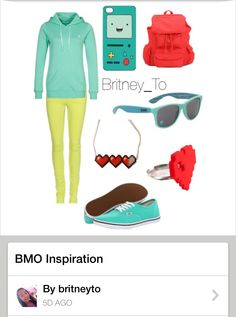 BMO (adventure time) outfit i dont like adventure time but its still pretty cute