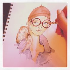 My latest @Pinterest inspired sketch. by Brooke Hagel #fashion #illustration