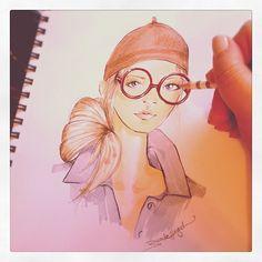 My latest @Pinterest inspired sketch. by Brooke Hagel #fashion #illustration