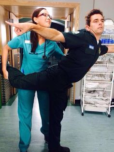 Crystal Yu and Michael Stevenson! Casualty Cast, Casualty Tv Show, Holby City, Casting Pics, Musical Film, Medical Drama, Television Program, Best Tv, Favorite Tv Shows