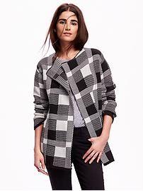 Women's Jacquard Sweater Jacket