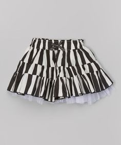 Loving this Black & White Stripe Skirt - Infant, Toddler & Girls on #zulily! #zulilyfinds