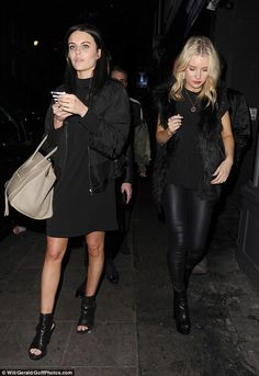 Reality pals: Kate Moss' younger sister stepped out with Made In Chelsea star Emily Blackw...