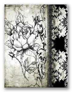 Cuadro Rose Vintage I_A