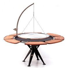 1000 images about barbecues charbon on pinterest barbecue napoleon and campfires - Grille de barbecue ronde ...