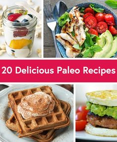 20 Delicious Paleo Recipes for Every Meal of the Day - From grocery aisles to restaurant menus to primal vending machines, the paleo lifestyle has officially gone mainstream. And if you're still not clear on what it entails, there's no need to crawl under a rock. The paleo diet is based on the idea that our bodies are function best when fed the same diet our caveman ancestors enjoyed.
