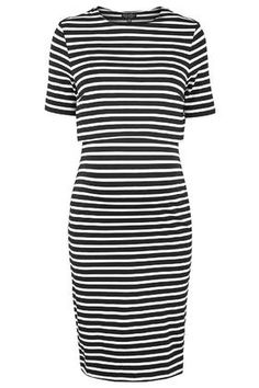 MATERNITY Stripe Overlay Dress - maternity/nursing