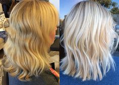 From a brassy blonde, to a modern bright and icy highlight!
